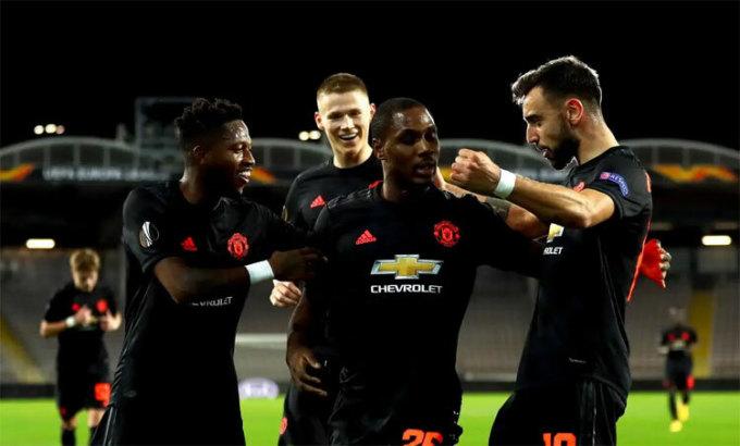 Trên sân cỏ, Man Utd đang thăng hoa nhờ hai tân binh Fernandes và Ighalo. Ảnh: PA.