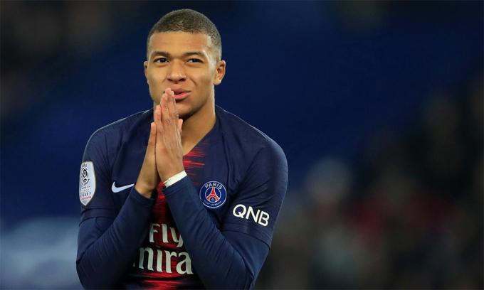 Mbappe đang có 30 bàn qua 33 trận cùng PSG mùa này, trước khi bóng đá châu Âu tê liệt vì đại dịch. Ảnh: Reuters.