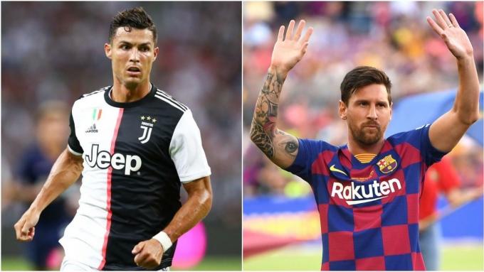 Ronaldo (trái) và Messi được Matic đánh giá là ngang tài.