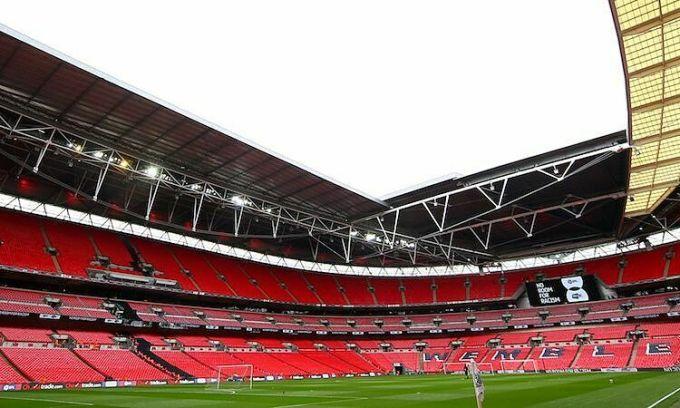 Sân Wembley có thể được trưng dụng để tổ chức phần còn lại của mùa giải Ngoại hạng Anh. Ảnh: Sky Sports.