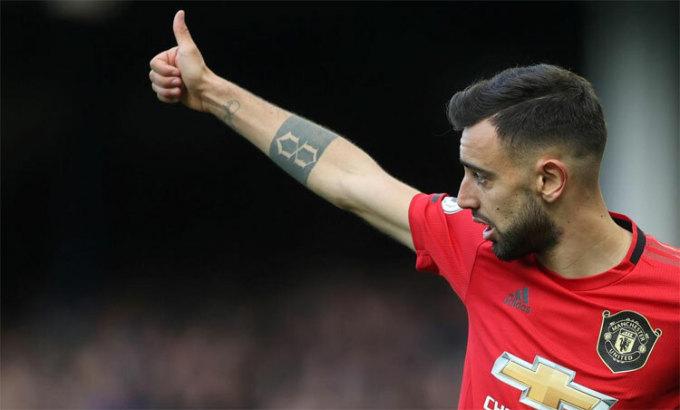 Bruno Fernandes rất tự tin trong tháng đầu chơi cho Man Utd. Ảnh: Reuters.