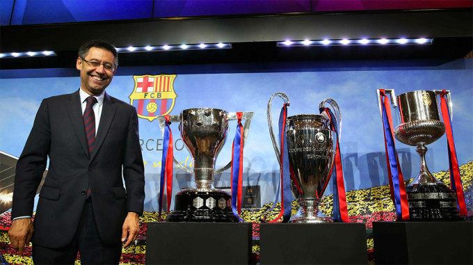 Cú ăn ba gần nhất của Barca đến trong cùng năm Bartomeu đắc cử chủ tịch CLB.