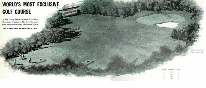 Sân golf trong trại David.