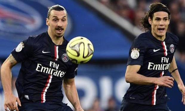Ibrahimovic và Cavani mâu thuẫn trong suốt ba năm chơi bóng cùng nhau. Ảnh: AFP.