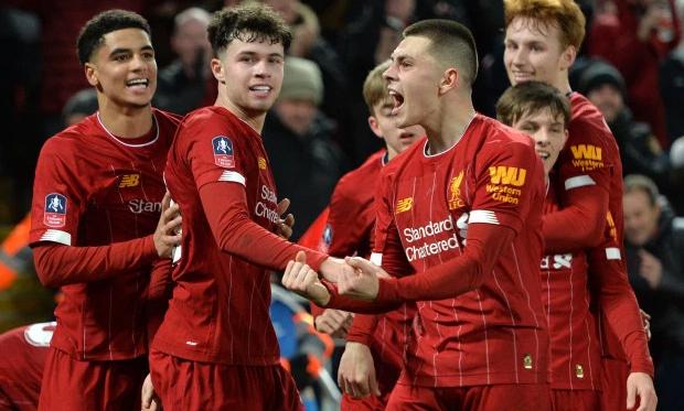Dàn cầu thủ măng non của Liverpool có thể vào chơi giai đoạn cuối mùa. Ảnh: EPA.
