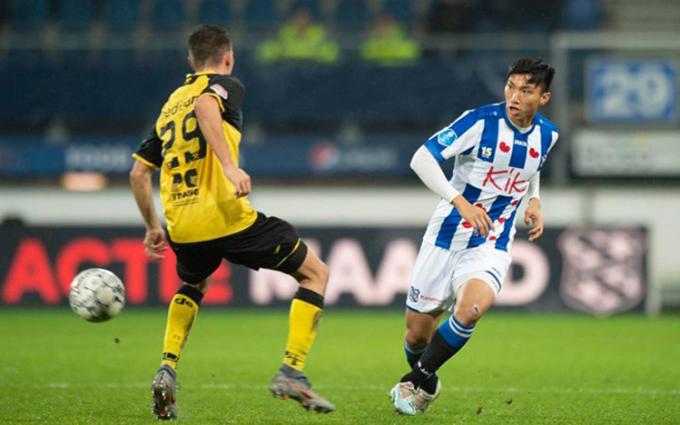 Văn Hậu là cầu thủ Việt Nam duy nhất đang chơi bóng ở châu Âu.