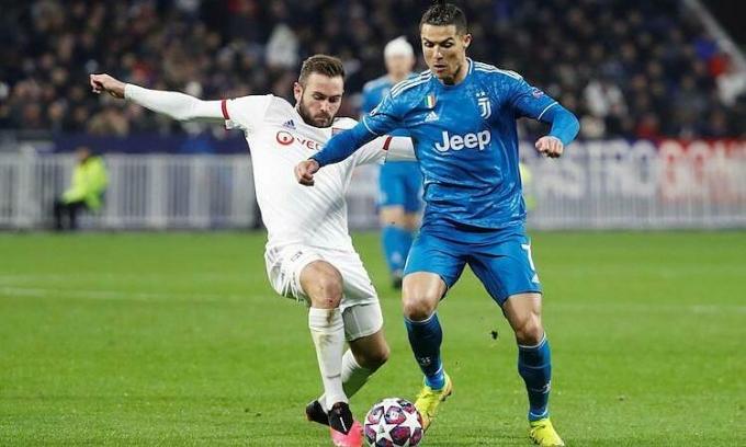 Juventus thua 0-1 trên sân Lyon ở trận lượt đi. Ảnh: Reuters.