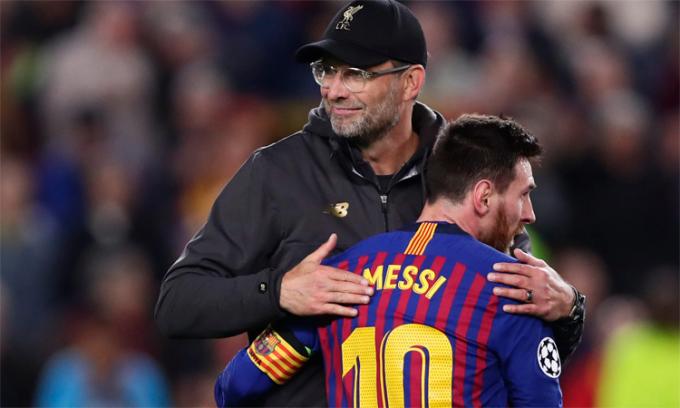 Klopp yêu mến Messi và ngưỡng mộ Ronaldo. Ảnh: AP.