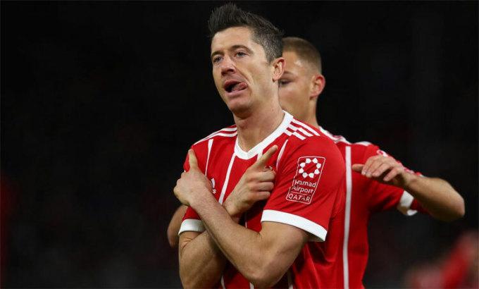 Lewandowski sẵn sàng trở lại sau chấn thương. Ảnh: Reuters.