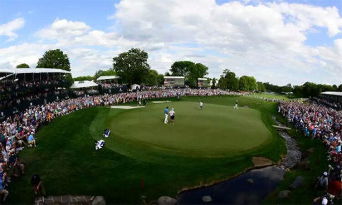 Sân Quail Hollow vừa được ký hợp đồng làm nơi đăng cai PGA Championship 2025. Ảnh: AFP.