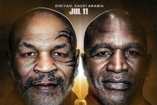 Poster trận đấu giữa Tyson và Holyfield vào ngày 11/7.