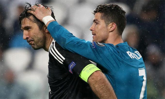 Ronaldo hưởng lương cao gấp 20 lần Buffon