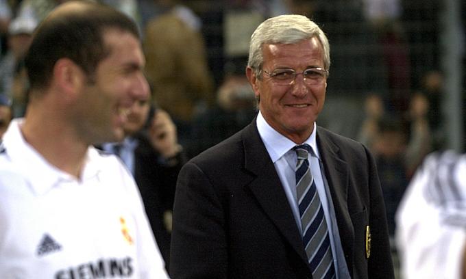 Lippi đánh giá Zidane là cầu thủ hay nhất ông từng làm việc cùng. Ảnh: AFP.