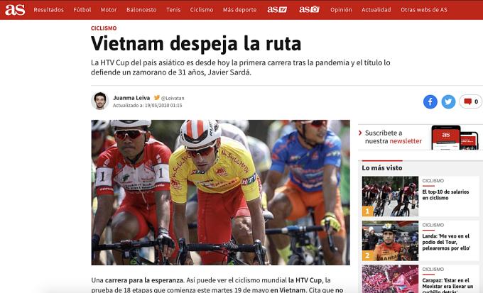 Báo Tây Ban Nha ca ngợi cuộc đua xe đạp xuyên Việt