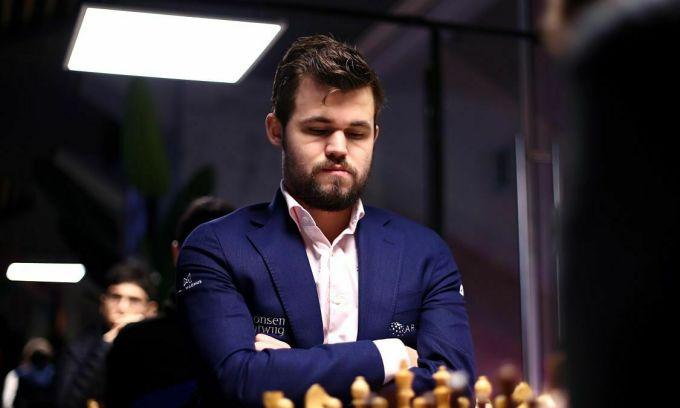 Carlsen chơi không tốt ở vòng loại Lindores Abbey. Ảnh: Tata Steel.