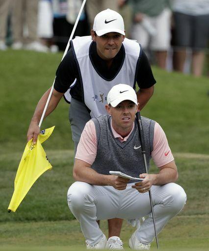 Diamond luôn sát cánh với McIlroy tại các giải golf bốn năm qua. Ảnh: AP.