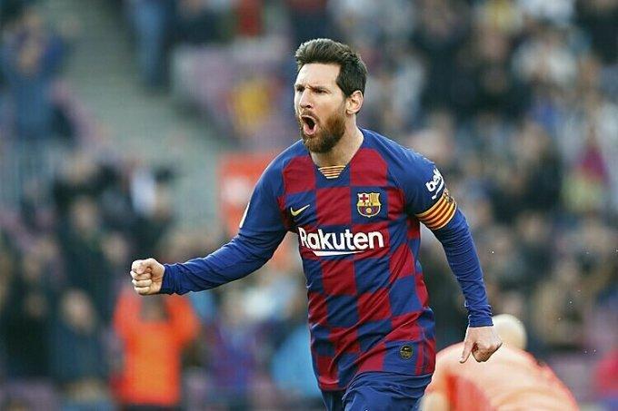 Messi dẫn dầu danh sách ghi bàn La Liga mùa này, với 19 bàn. Ảnh: AP.