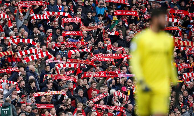 Ngoại hạng Anh không thể đón khán giả trong phần còn lại mùa này. Ảnh: Reuters.