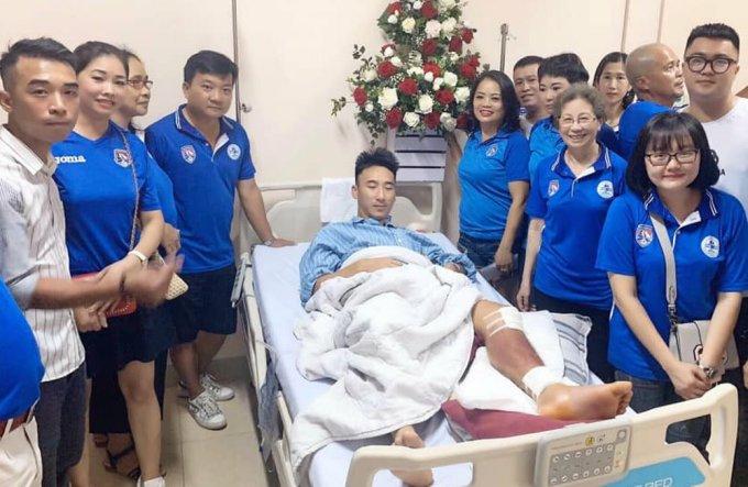 Hải Huy đang được điều trị tại Bệnh viện đa khoa Bãi Cháy.