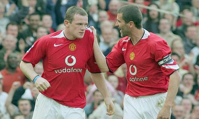 Mùa 2005-2006 mới là năm thứ hai Rooney ở Man Utd. Dù mới 20 tuổi, anh sớm phải trở thành trụ cột bên các đàn anh như Roy Keane, Paul Scholes, Ryan Giggs, Gary Neville. Ảnh: MUFC.