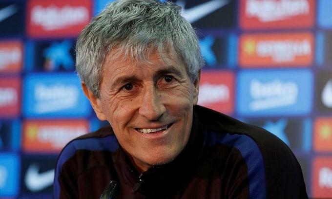 Setien tự tin với thực lực Barca. Ảnh: Reuters.