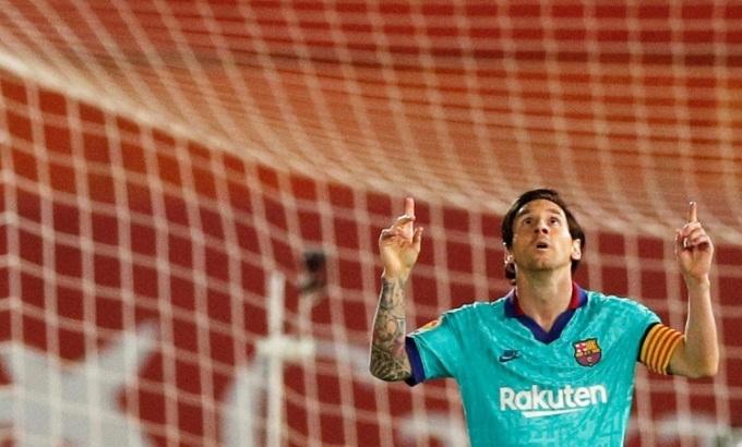 Messi chinh phục một kỷ lục mới tại La Liga. Ảnh: Reuters.