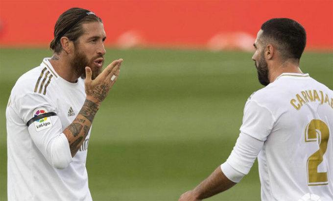 Ramos chạy 70 m để ghi bàn thứ hai cho Real.