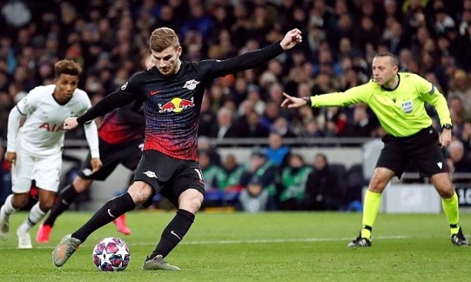 RB Leipzig sẽ chịu thiệt thòi lớn nếu không có Werner ở tứ kết Champions League. Ảnh: Reuters.