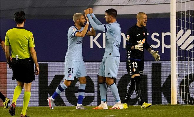 Morata và Carrasco đều có bàn thắng cho riêng mình.