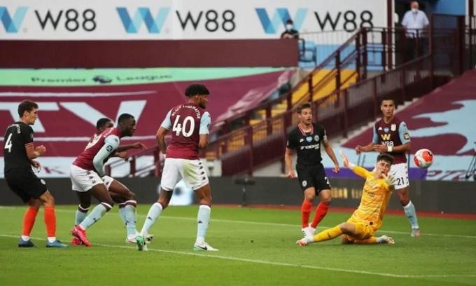 Villa ghi bàn trước nhưng không thể bảo toàn lợi thế. Ảnh: Reuters.