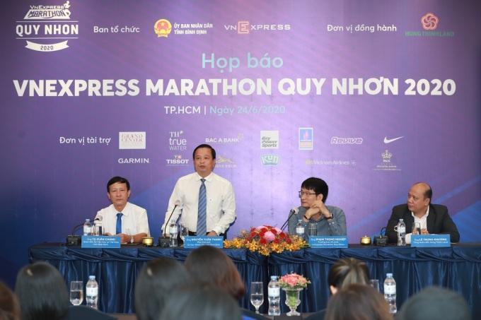 Buổi họp báo giải chạy VnExpress Marathon Quy Nhơn 2020 diễn ra chiều 24/6 tại khách sạn Rex, TP HCM.