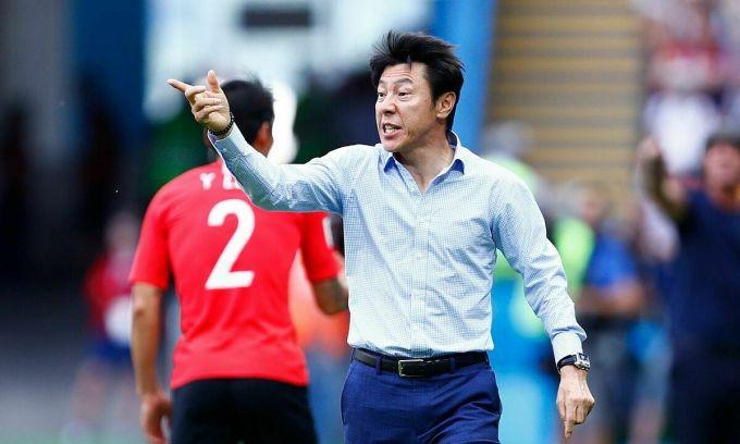 HLV Shin Tae-yong từng dẫn tuyển Hàn Quốc. Ảnh: AFP.