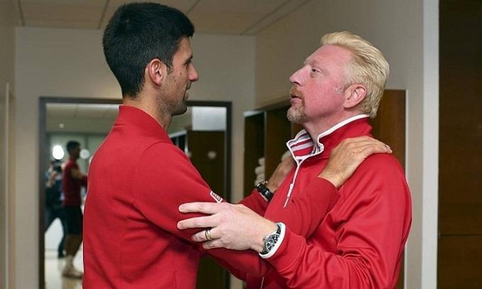 Boris Becker bênh vực Djokovic