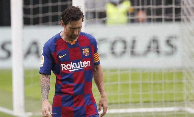 Messi tịt ngòi trong ba trận gần nhất. Ảnh: EFE.