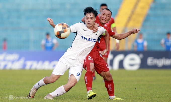 Văn Toàn là một trong những chân sút nội được HLV Park Hang-seo chấm cho tuyển Việt Nam, nhưng anh đang chơi không tốt ở HAGL. Ảnh: Lâm Thỏa.