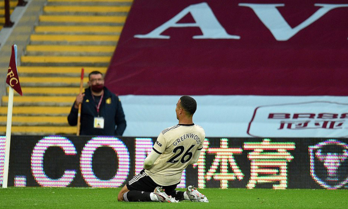 Cùng với Rashford, Brandon Williams, Greenwood được coi là tương lai của Man Utd. Ảnh: AFP.