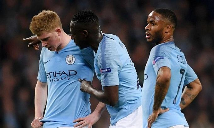 Những ngôi sao như De Bruyne, Sterling có thể ra đi nếu Man City bị cấm dự Champions League. Ảnh: Reuters.
