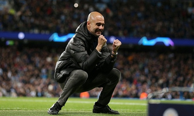 Man City và Pep Guardiola sẽ góp mặt ở Champions League mùa sau. Ảnh: AFP.