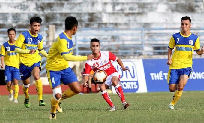 Cầu thủ Đồng Tháp thi đấu tại vòng loại U21 quốc gia năm 2019. Ảnh: VFF.