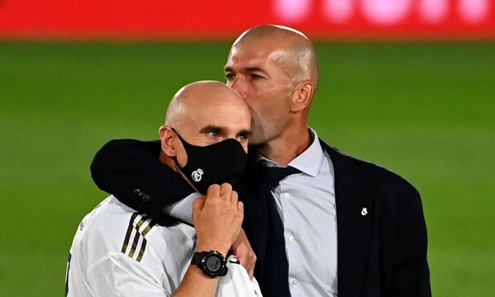 Cầu thủ Real tung hô Zidane trong ngày vô địch