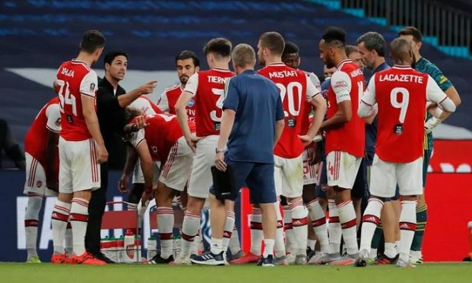 Arsenal chơi một trận đầy kỷ luật và hiệu quả, khác với hình ảnh trước đây của họ. Ảnh: Guardian.
