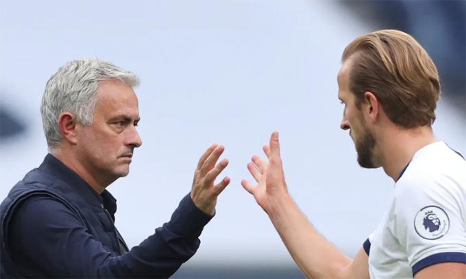 Mourinho cho rằng Tottenham may mắn khi có sự phục vụ của Kane. Ảnh: EPA.