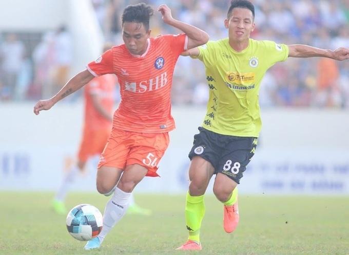 Đà Nẵng cầm hoà Hà Nội ở vòng 9 V-League 2020 trên sân Hoà Xuân hôm 12/7. Ảnh: Minh Huy.