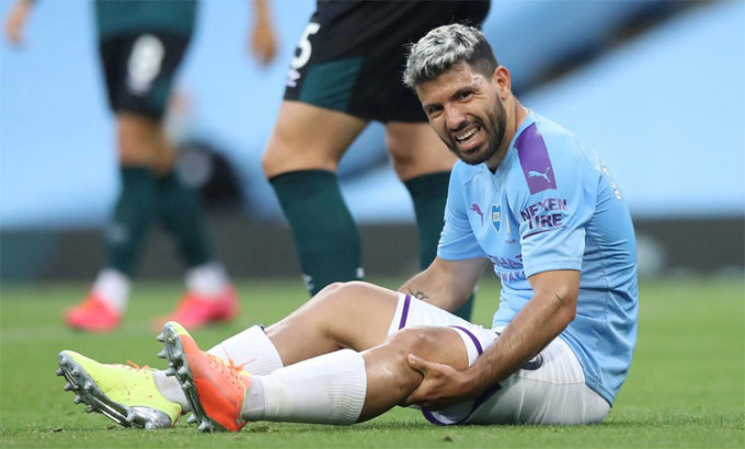 Aguero vẫn chơi rất hay ở tuổi 32. Ảnh: Reuters.