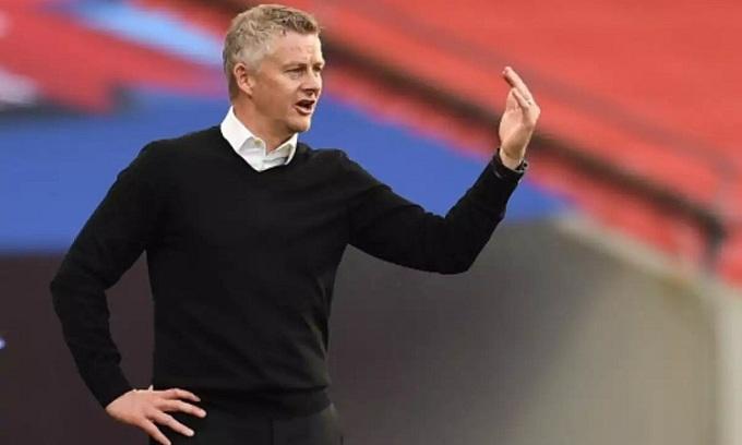 Solskjaer nhắc lại việc các chuyên gia đánh giá thấp Man Utd trước mùa giải. Ảnh: Reuters.