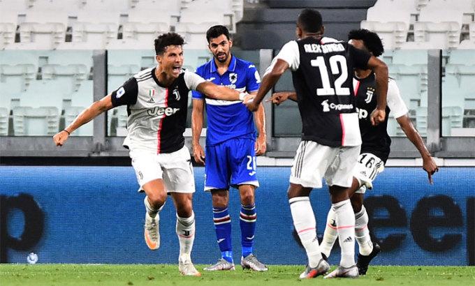 Ronaldo giành hai Serie A trong hai năm chơi cho Juventus. Ảnh: Reuters.