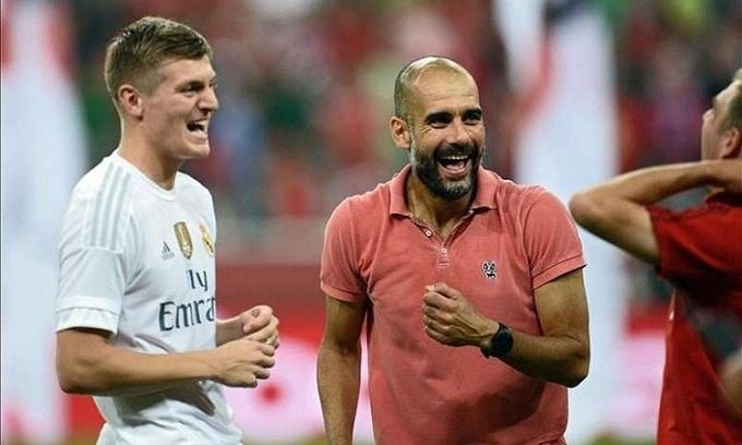 Kroos và Guardiola có thiện cảm với nhau nhưng không thể làm việc chung tại Bayern. Ảnh: EFE.