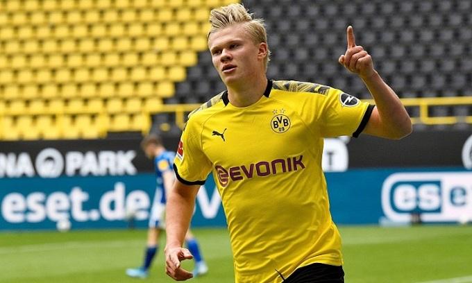 Haaland đặt mục tiêu giành danh hiệu cùng Dortmund và chưa nghĩ đến chuyện ra đi. Ảnh: Reuters.