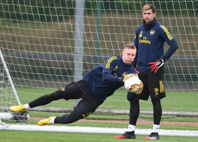 Martinez khó lòng cạnh tranh suất bắt chính với Leno ở mùa tới. Ảnh: Arsenal FC.