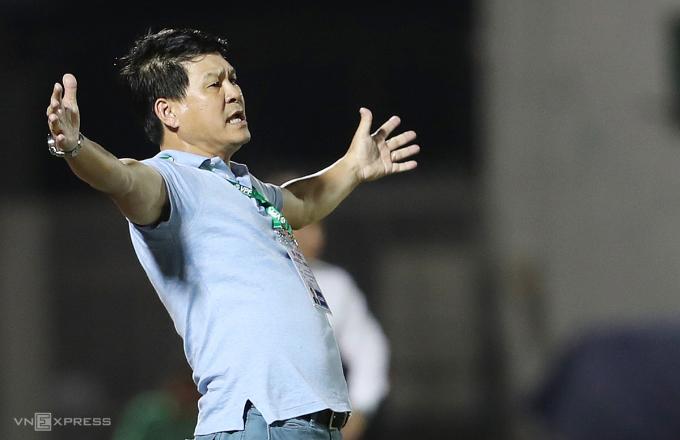 Theo ông Vũ Tiến Thành, họ không mong trao chức vô địch nếu V-League kết thúc sớm nhưng Ban tổ chức cần ghi nhận nỗ lực của Sài Gòn FC. Ảnh: Đức Đồng.